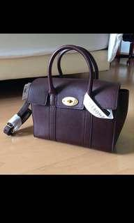 Authentic Mulberry Bayswater leather bag (small in oxblood)