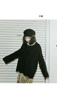 🚚 Lulus針織外套 黑