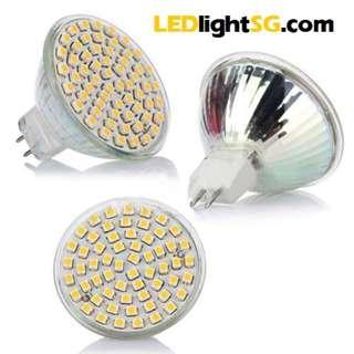 LED MR16 GU5.3 GU10 12V / 220V 5W Halogen replacement bulb White / Warm White 1yr warranty