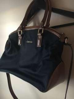 Calvin Klein Nylon & Leather Tote