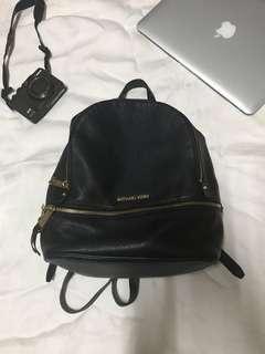 Michael Kors Rhea Leather black backpack