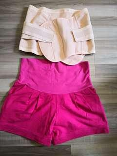 Spring maternity shorts and UpSpring binder
