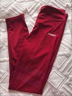 Red Gym Leggings