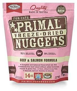 Primal beef + salmon for cats 14oz