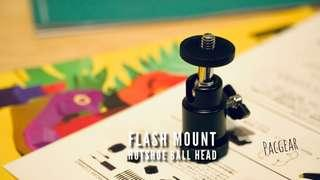 Flash Mount Hotshoe Ball Head