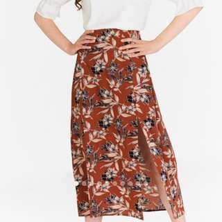 Tianna Floral Printed Skorts Midi Skirt