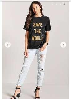 Forever 21 Sequin Graphic Tee