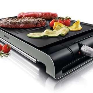 Philips Ribbed Plate Compact Electric table Grill Brand New In Box