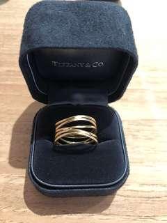 Genuine Tiffany & Co gold Elsa Peretti Wave ring rrp $3000