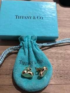 Genuine Tiffany & Co Elsa Peretti Gold Bean earrings