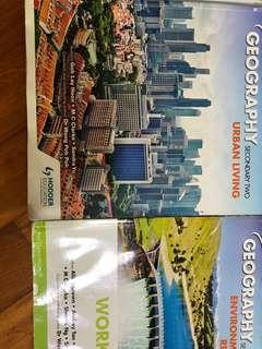 [Reduced prices!] Selling Secondary 1 and 2 All about Geography textbook/ workbook