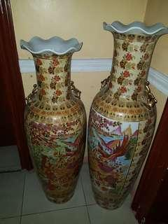 Pre Owned Oriental Inspired Floor Jar Sold in Pair