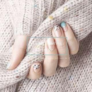 Full set Hard gel | Japanese Soft gel - 中環 擺花街 Nail Aesthetics