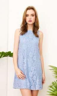 TSW Clary Lace Trapeze Dress in Periwinkle