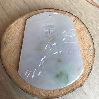 Jade (3彩) Pendant Heart Have Buddha 心中有佛