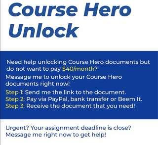 Course Hero unlock