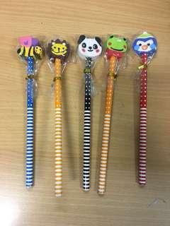Animal eraser topper pencil