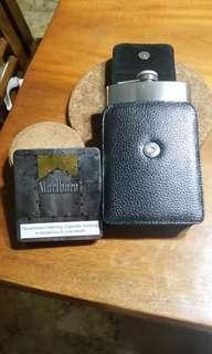Cigarette Case & Wine Flask