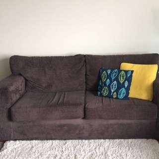 Jake Sofa 3 Seater Color Jazz Fudge , Gd Condition