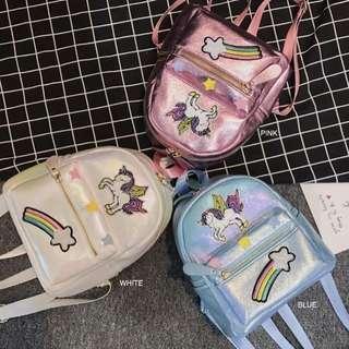 Unicorn Metallic Backpack