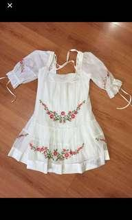 BEBE EMBROIDERED DRESS