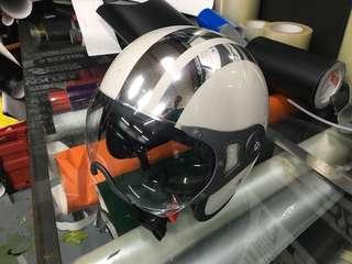 Helmet chrome stripe