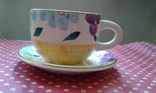Big soup cup and saucer