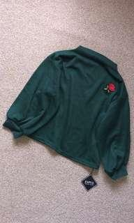 Dark green batwing pullover