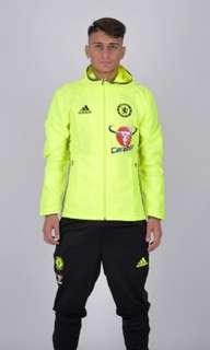 Men's XS Chelsea Adidas FC Pre-match Jacket with hood