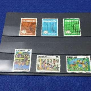 Singapore Stamps 1974 & 1977