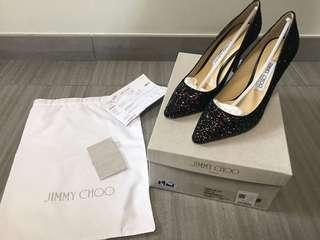 Jimmy Choo Shoes Romy 85 glittered leather pumps