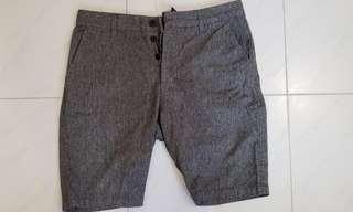 H&M 灰色西褲款短褲