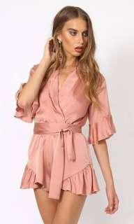 Lioness Silky Pink Playsuit (M)