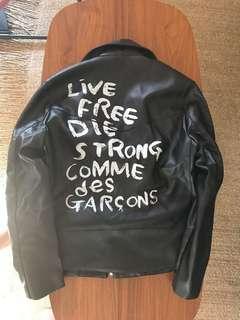Comme des garçons leather jacket