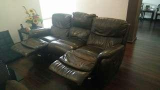 3 seater genuine leather sofa