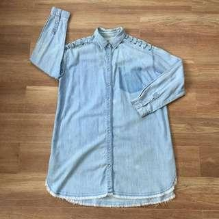 Pull&Bear OversizedDenim Wash Dress