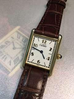 "Classic Cartier Lady ""Must de Tank"" 23x30mm quartz"