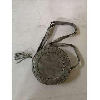 Shirlysy Korean Bohemian Retro Tassel Circle Sling Bag