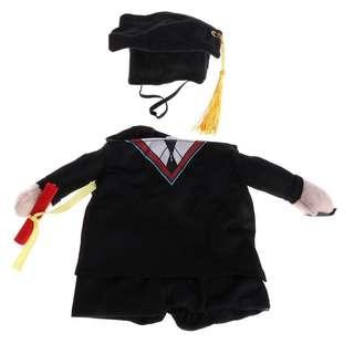 Pet Dog Cat Costume Suit Puppy Clothes Academic Dress Outfit Halloween Christmas
