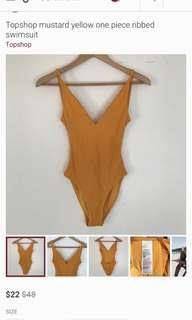 LOOKING FOR: Topsop Mustard Swimsuit