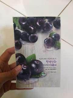 Mask acai berry