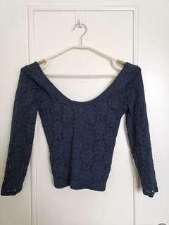 Hollister lace top (navy)