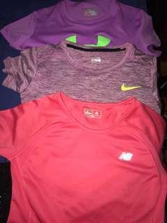 3x gym tshirts bundle