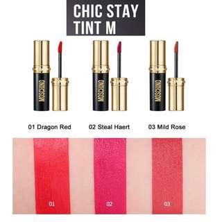 Moschino x TonyMoly Chic Stay Lip Tint M Matt 唇釉 唇彩 4g (另有 Lip Tint G Gloss stain) Tony Moly