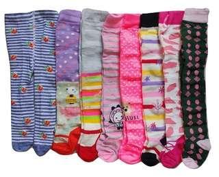 Jelova Baby 4pcs Legging Cotton Richbeibi 6-12 bulan for Baby Girls - Mixcolour