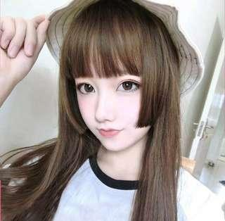 BRAND NEW IN PACKAGE Long Straight Golden Brown Wig