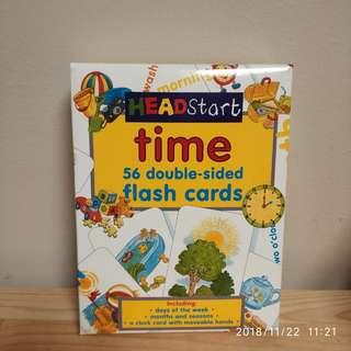 🚚 HeadStart Time 56 double-sided fladh cards