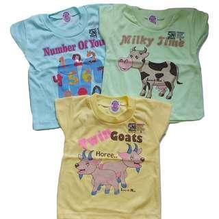 Jelova Angela 3pcs KAOS Oblong Baby Bayi Moms 3-12 Months Premium Quality Export - for baby Boy