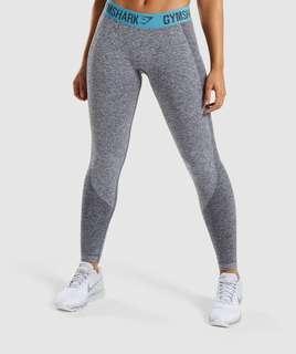 Gymshark Flex legging (charcoal marl/turquoise)