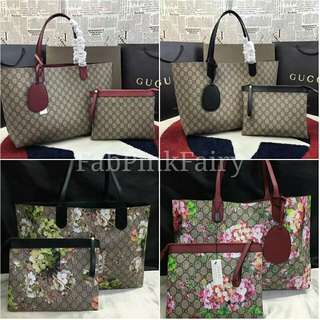 SALE Gucci Tote Bag with Clutch   Pouch Bag Gucci Floral Bag Gucci Monogram Bag  Gucci a5a121a08629b